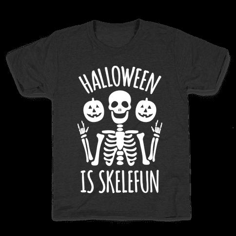 Halloween Is SkeleFUN Kids T-Shirt