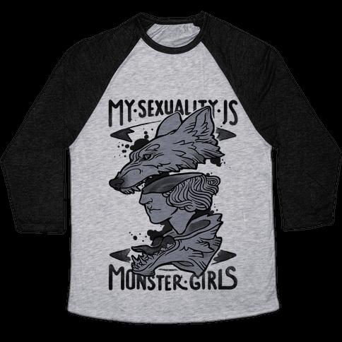My Sexuality Is Monster Girls Baseball Tee