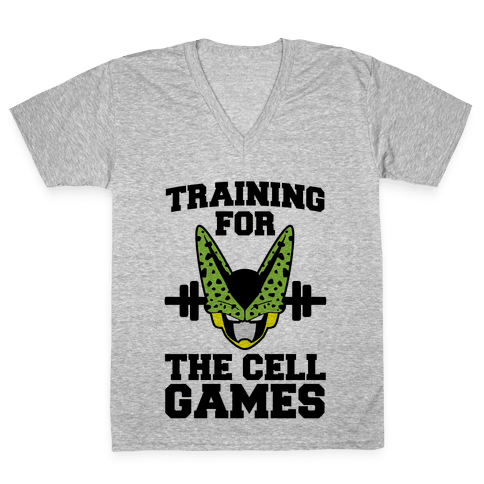 Training for the Cell Games V-Neck Tee Shirt