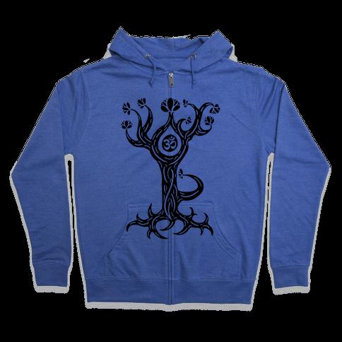The Tree Pose Zip Hoodie