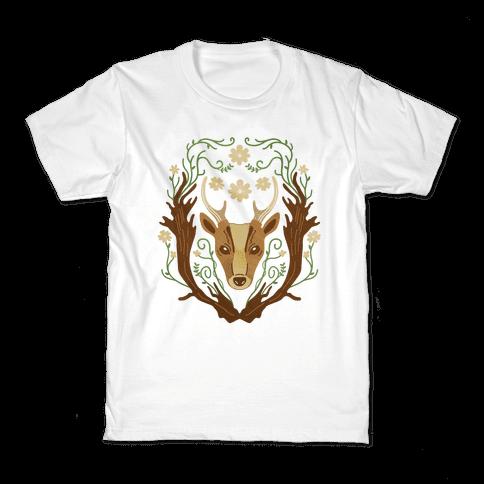 Floral Deer Kids T-Shirt