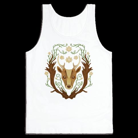 Floral Deer Tank Top