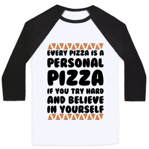 Personal Pizza Baseball Tee