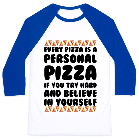 Personal Pizza Baseball Tee