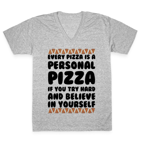 Personal Pizza V-Neck Tee Shirt