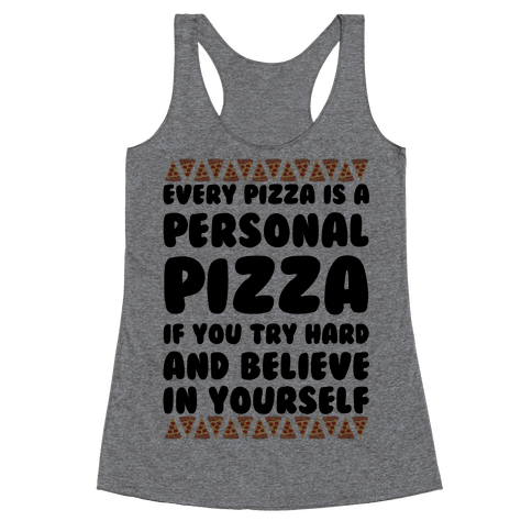 Personal Pizza Racerback Tank Top
