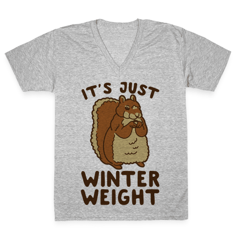It's Just Winter Weight V-Neck Tee Shirt