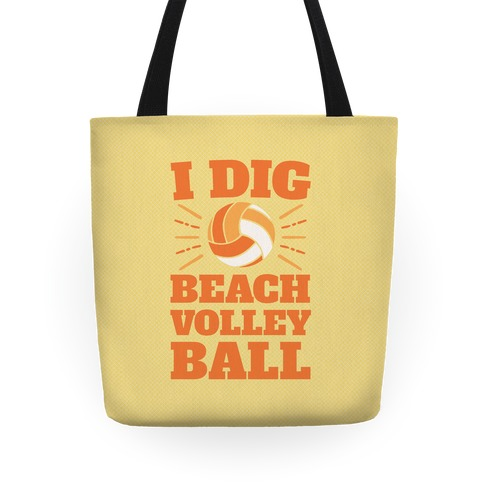 I Dig Beach Volleyball Tote