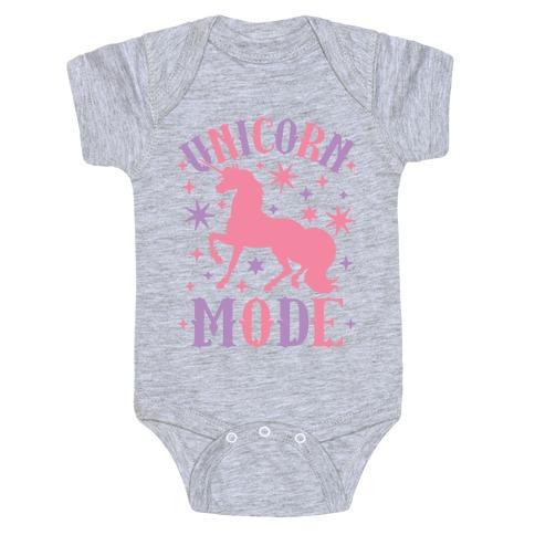 Unicorn Mode Baby Onesy