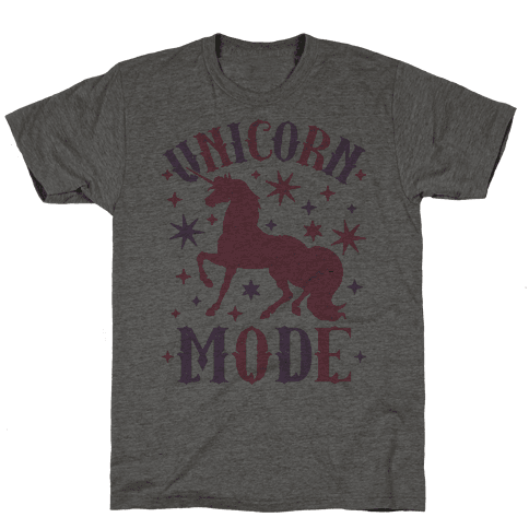 Unicorn Mode Mens T-Shirt