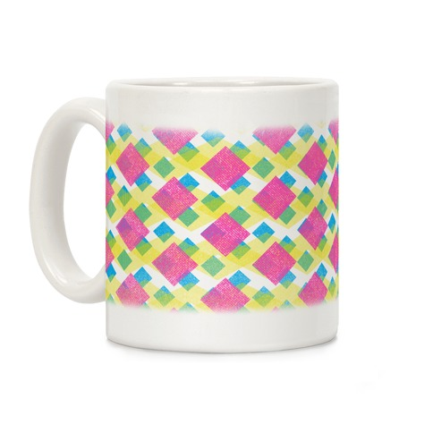 Cyan Magenta Yellow Pattern Coffee Mug
