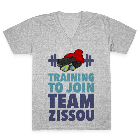 Training to Join Team Zissou V-Neck Tee Shirt