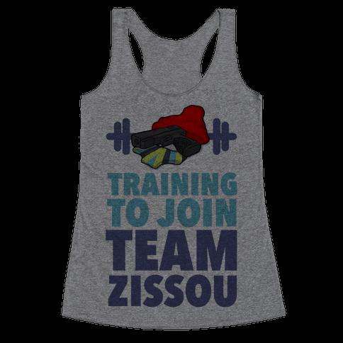 Training to Join Team Zissou Racerback Tank Top