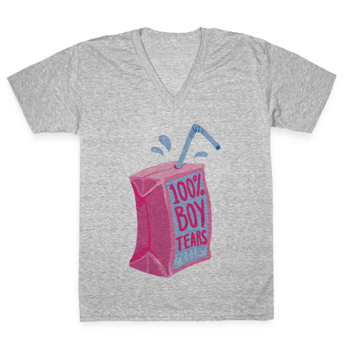 100% Boy Tears V-Neck Tee Shirt