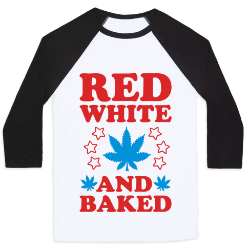 Red White and Baked Baseball Tee
