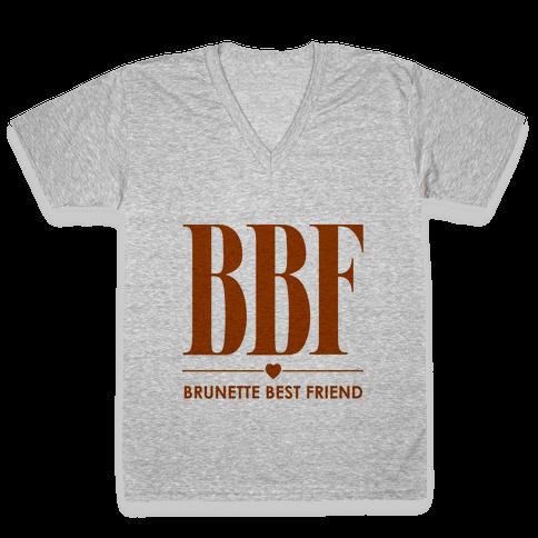 Brunette Best Friend (BBF) V-Neck Tee Shirt
