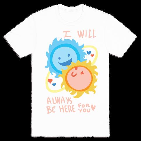 Binary Star Love Mens T-Shirt