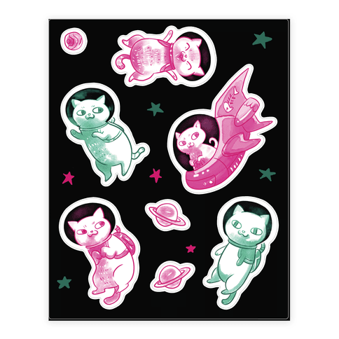 Space Cat Sticker and Decal Sheet
