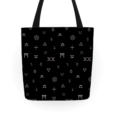 Wicca Witchcraft Symbols Tote