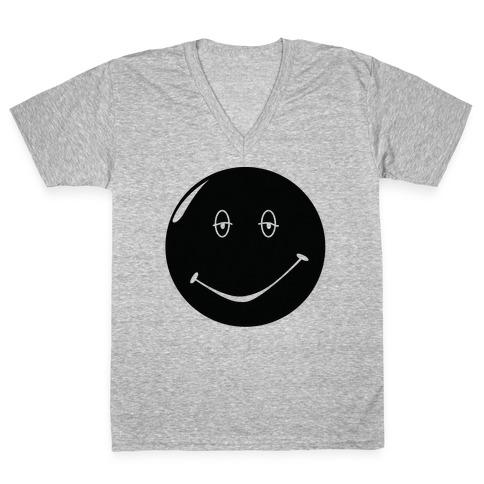 Dazed and Confused Stoner Smiley Face V-Neck Tee Shirt