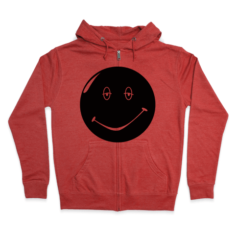 Dazed and Confused Stoner Smiley Face Zip Hoodie
