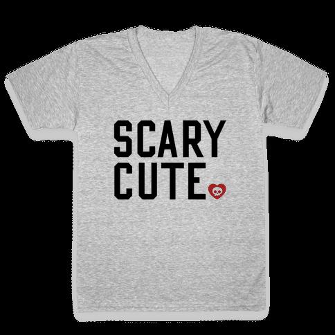 Scary Cute V-Neck Tee Shirt