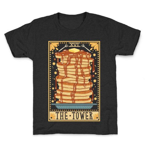 Tarot Card: The Tower (Of Pancakes) Kids T-Shirt