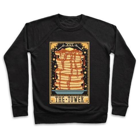 Tarot Card: The Tower (Of Pancakes) Pullover
