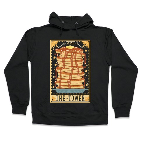 Tarot Card: The Tower (Of Pancakes) Hooded Sweatshirt