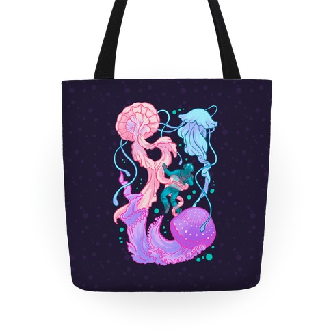 Deep Sea Diver & Jellyfish Tote