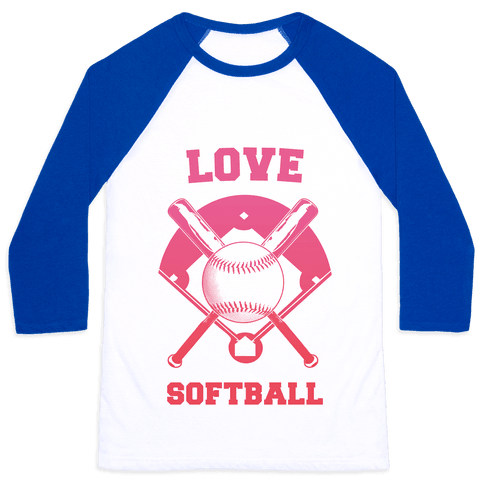 Love Softball Baseball Tee