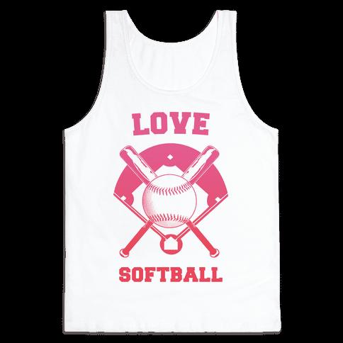 Love Softball Tank Top