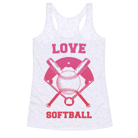 Love Softball Racerback Tank Top