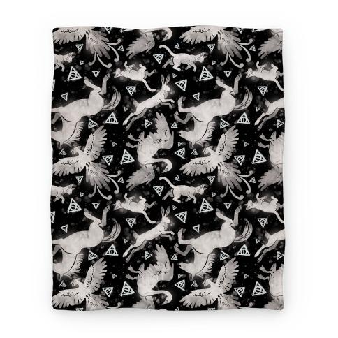 Hogwarts Patronus Pattern Blanket