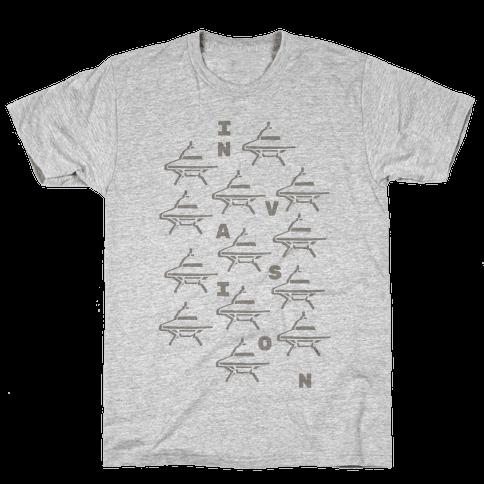UFO Invasion Mens T-Shirt