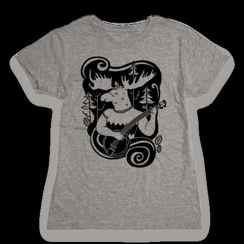 Indie Rock Moose Womens T-Shirt