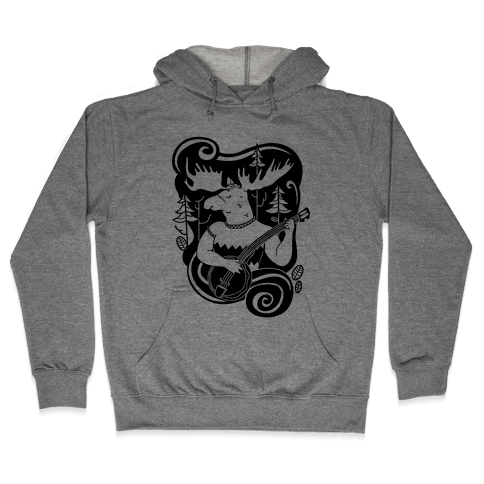 Indie Rock Moose Hooded Sweatshirt
