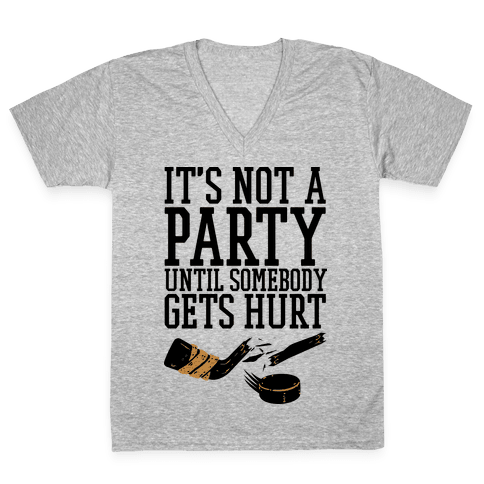 Hockey Party V-Neck Tee Shirt