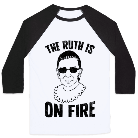 The Ruth Is On Fire (Vintage) Baseball Tee
