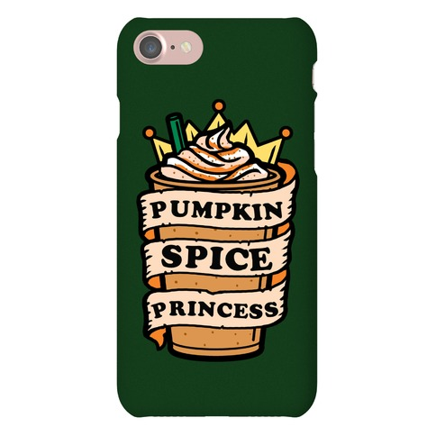 Pumpkin Spice Princess Phone Case