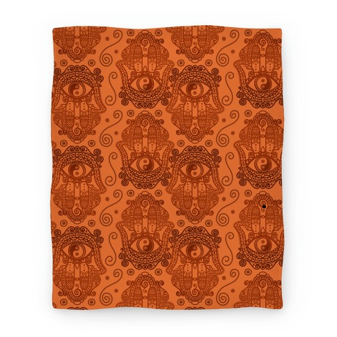 Peaceful Hamsa Hand Blanket