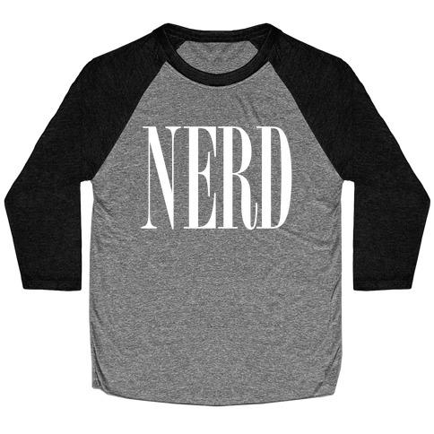 Nerd (Text) Baseball Tee