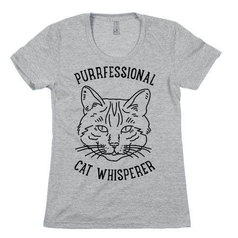 Purrfessional Cat Whisperer Womens T-Shirt