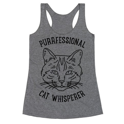 Purrfessional Cat Whisperer Racerback Tank Top