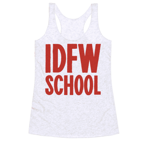 IDFW School Racerback Tank Top