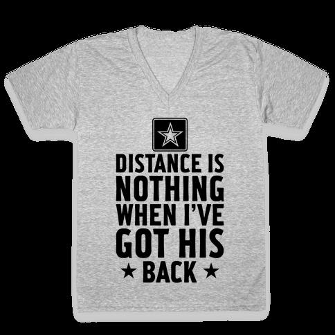 I've Got His Back (Army) V-Neck Tee Shirt