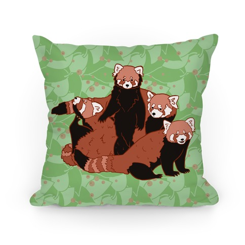 Cute Red Pandas Pillow