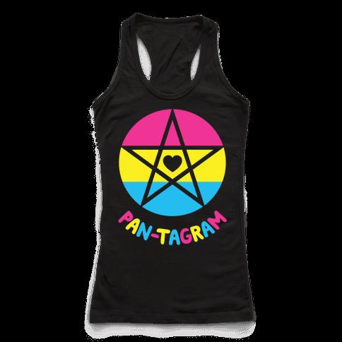 Pan-tagram (Pansexual Pentagram) Racerback Tank Top