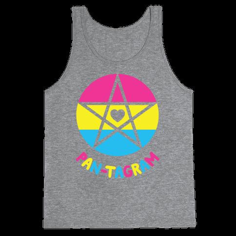 Pan-tagram (Pansexual Pentagram) Tank Top