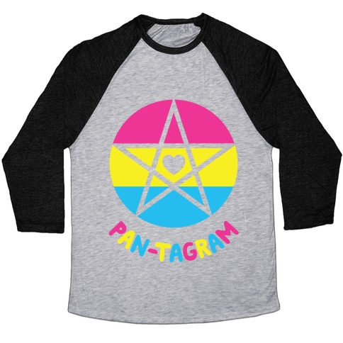 Pan-tagram (Pansexual Pentagram) Baseball Tee
